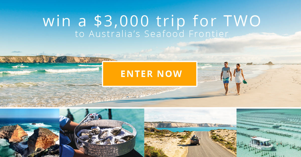 Enter to WIN a $3,000 trip to the Eyre Peninsula